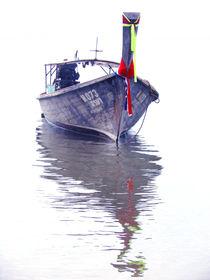 Boat in Thailand sea by Wilma Traldi