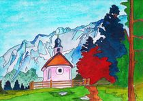 Karwendel and Chapel by michaba