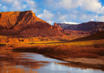 Fisher Towers & Colorado River near Moab Utah by Douglas Pulsipher