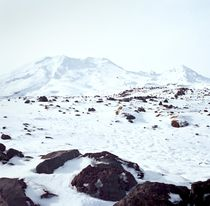 Icy Top of Mt Ruapehu von Stas Kulesh