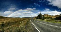 Rainbow Over Road by Stas Kulesh