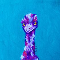 Emu Turquoise von Margaret Saheed