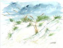 sand dunes beach painting by Derek McCrea