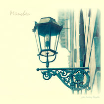 Street lamp (Munich) by rain