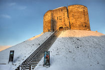 Cliffords Tower, York in the Snow by Martin Williams