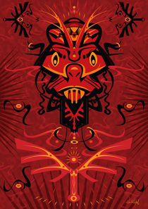 AngryRed - Shaman mask by Ken  Rinkel