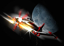 Moonlight Strafing Run by Mark Seberini