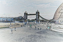 London Southbank art von David Pyatt