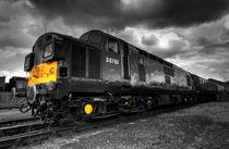 Class 37 Pioneer (mono) by Rob Hawkins