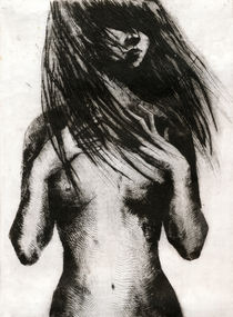 Girl Etching 4 by freeminds
