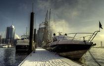 Hamburg Yacht in the Snow by Rob Hawkins
