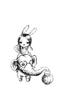 Elephant and a Girl von freeminds