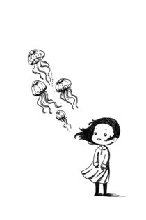 Girl and the Jellyfish von freeminds