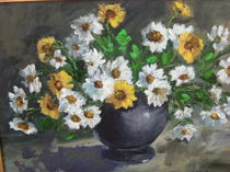 Daisies vellow & White,  von Monika wisberger