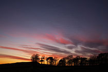 Sunset At Hadrian's Wall von David Pringle