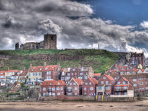 Whitby Church and Houses by Allan Briggs