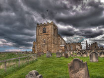 St Mary's Church and Graveyard Whitby by Allan Briggs