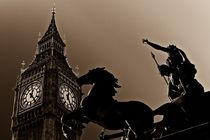 Big Ben and boudica statue  by David Pyatt