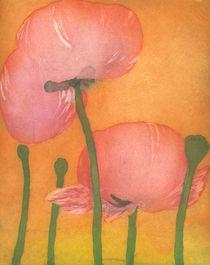 Mohn Variation Gelb von Marion Huber