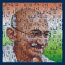 Poster Mahatma Gandhi by Nandan Nagwekar