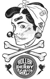 Zombie Roller Derby Girls by Neil Hyde