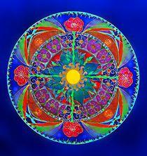 Mandala vier Rosen von Lydia  Knauf