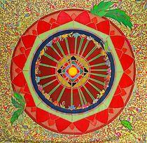 Mandala Himmelsblume by Lydia  Knauf