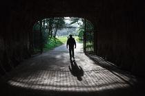 Man crossing a gate von Jacobo Zanella
