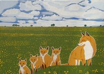 Foxes in the countryside von Eamon Reilly