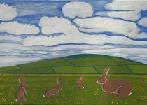 Rabbits in the countryside von Eamon Reilly