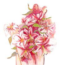 Pink Stargazer Lilies by Elisabeth Wakeford
