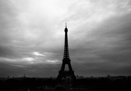 Eiffel Tower Black And White Poster Eiffel Tower Black And White