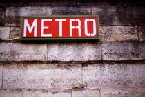 French Metro Sign von Kelsey Horne