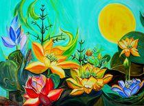 Lotusblüten gemalt von Lydia  Knauf