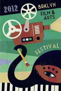Brooklyn Film and Arts Festival Poster by Benjamin Bay