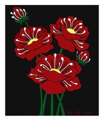 Pretty Poppies by Ameda Nowlin
