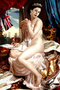 QUEEN ELIZABETH II NUDE by Karine PERCHERON DANIELS