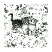 Cat Scene by Lisa  McCue
