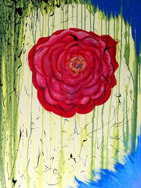 Dripping-rose