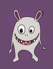 Funny Crazy Monster With Cracked Teeth von Boriana Giormova