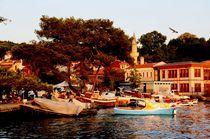 Hafen im Sonnenuntergang von Julia  Berger