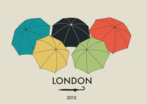 'LONDON OLYMPIC POSTCARD' by Elena Marchese
