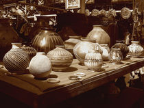 Santa Fe Pottery Shop by Kathleen Stephens