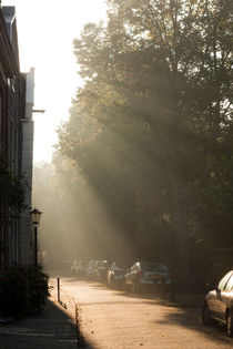 Sunrise at the Nieuwegracht, Purmerend by Alex Voorloop