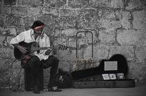 Croatian Musician in Dubrovnik by Alberto Vaccari