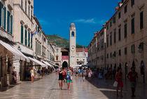 Main street Dubrovnik von Alberto Vaccari