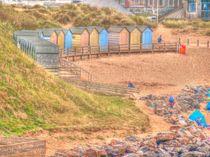Beach Huts von Allan Briggs