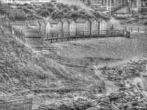 Beach Huts Bude by Allan Briggs