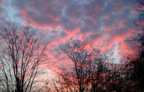 Impressionist Pink Blue Sunset von Katia Boitsova-Hošek