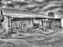 Long Marston Barn B&W by Allan Briggs